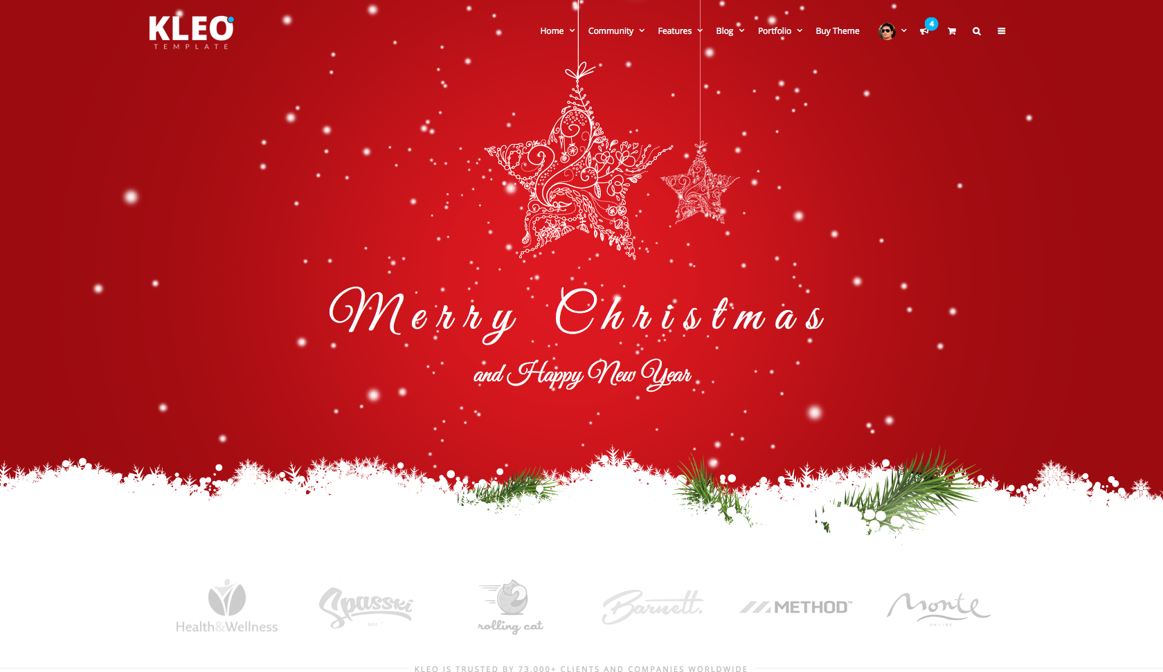 merry christmas kleo wordpress theme