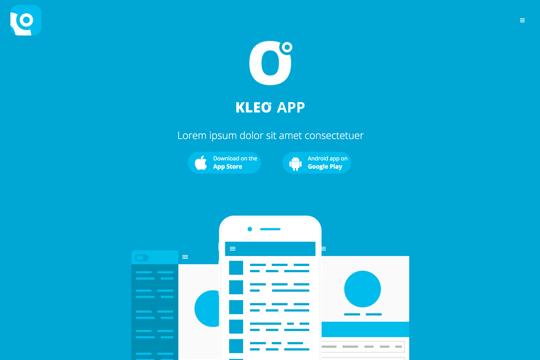 kleo_demo_mobile_app_landing_page