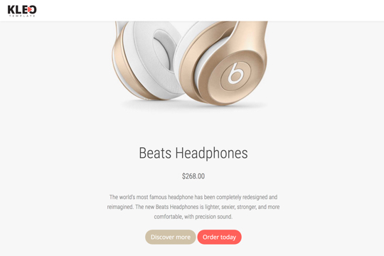 kleo_demo_product_landing_page
